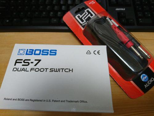 FS-7の箱とセットで購入したGT-1との接続用ケーブルです。