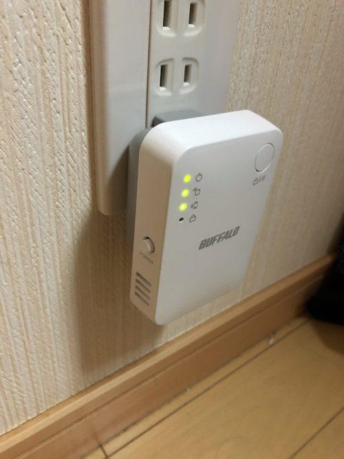 WEX-1166DHPSを実際に取り付けたところ。LED表示はOFFにすることもできます。