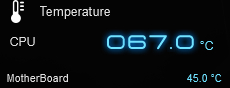 Ryzen純正ファンを白虎弐に、ケースをAntec P5に交換後のモンスターハンターワールドプレイ時のCPU、マザーボード温度です。