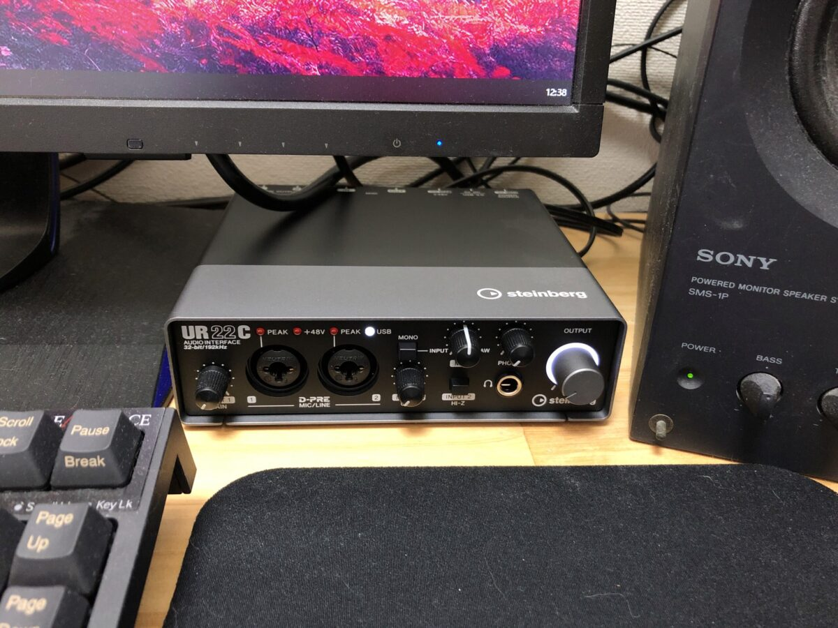 UR22CをUA-25と入れ替えて設置してみました。サイズ感変わらないので違和感ないです。