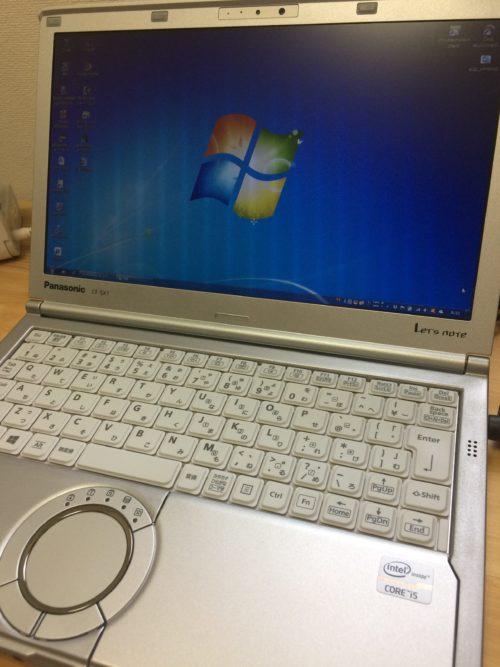 OSアップグレード前のWindows7稼働中の記念写真。今までありがとうございました。
